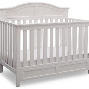 Birmingham Elite Curved 4-in-1 Crib.     Colors: White