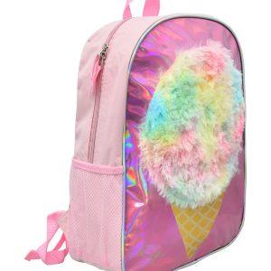 Ice Cream Holographic & Plush 16″ Backpack