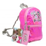 LOL Surprise 8.5″Shiny Quilted Mini Backpack with Patch