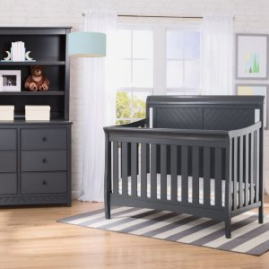 Kennington Elite Sleigh 4-in-1 Convertible Crib