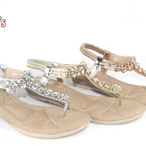 Women Wedge Sandal W/Rhinestone