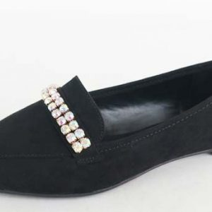 Loafer W/Rhinestone Chain