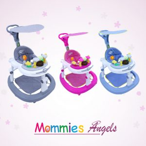 3 level Seat Baby Walker W/Roof