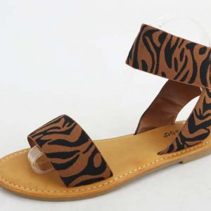 One Band W/Ankle Strap Elastic Sandal