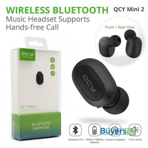 QCY Mini2 Wireless Business Bluetooth Headphone with Mic Bluetooth 5.0 Headset Voice Assistant Activate Earbuds