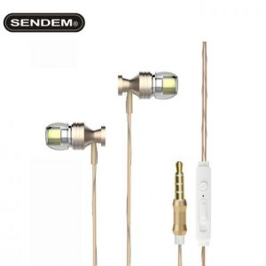 SENDEM U201 In-Ear Headset Dynamic Dual Driver Earphone heavy bass sports Headphone Noise Isolating HiFi Music Earbuds With Mic