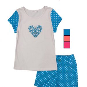 2pc Heart Set Top W/Short