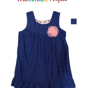 Baby Girl Denim Dress W/Flower Bow