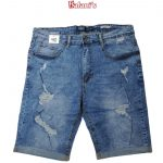 Plus Size Cut Up Men Jeans Short