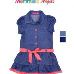 Baby Girl Denim Dress W/Heart