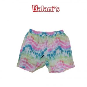 Dye printed beach shorts