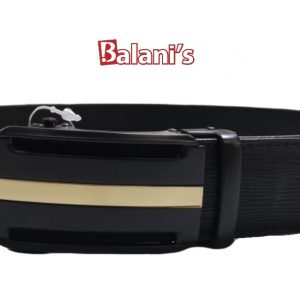 Skinny Fit Elegant Belt Black W/ Gold Line