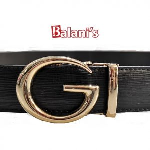 G Buckle Men PU Belt