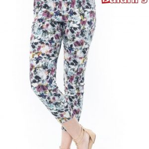 Multi flower printed pant