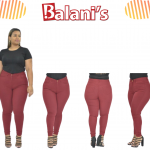 High waist plus size stretchy pant
