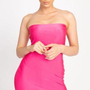 Satin Tube Mini Dress