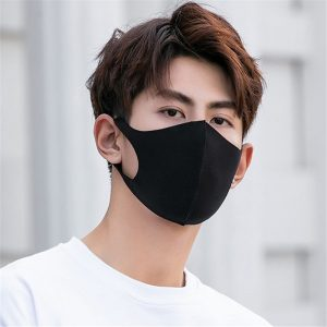 Custom design Both men, women and kids reusable anti pollution black fashion face mask