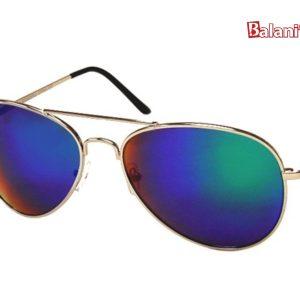 Fashion Aviator W/Colored Mirror Lens