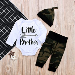 Little Bro Romper + Army Jogger + Hat