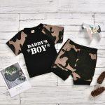 Daddy's Boy Army Top + Short