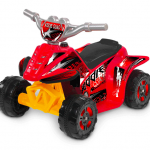 6V Kiddie Quad Battery-Powered Ride-On, Red