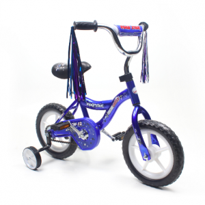 ChromeWheels BMX 12″ Kid's Bike for 2-4 Years Old, Bicycle, EVA Tires with Training Wheels & Coaster Brake Blue
