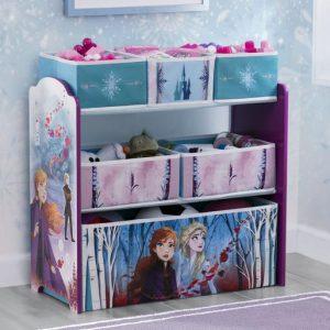 Frozen II Design and Store 6 Bin Toy Organizer