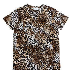Leopard Print Poly Model Men T-Shirt