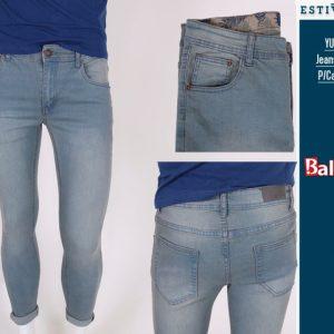 Estivaneli Light Shadow Denim Skinny Jeans