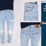 Estivaneli Light Denim Cut-up Skinny Jeans