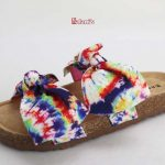 Double Band W/Bows Footbed Sandal Tie Dye