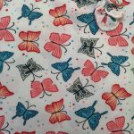 Butterfly Printed Gown W/Sleeve