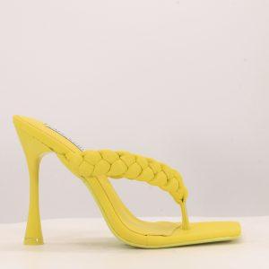 Quilted Strap Detail Almond Toe Stiletto Heel
