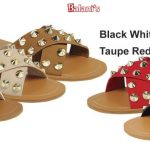 Studded Spiked Slipper W/Double Band Crossover