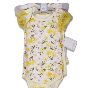 Kyle & Deena Baby Girl 3pc Bodysuit W/Ruffle Sleeve