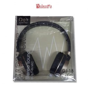Gjby GJ-18 Stereo Sound Headphones Built in Mic Good Sound Insulation Plug 3.5