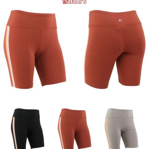 Women Bike Workout Yoga Running Tummy Control Short W/Side Lining