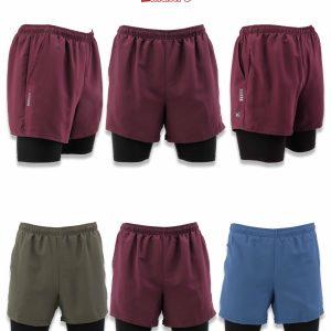 Men's 2 in 1 Active Running Dri-Feel Shorts