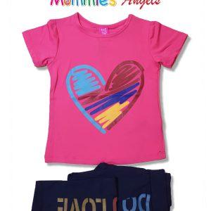 Girls Hearts 2pc Set+Pant