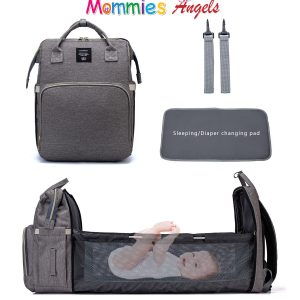 Mommy diaper bag backpack Convertible Travel Baby Bag diaper backpack for baby bed