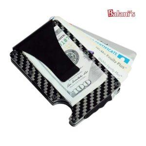 Carbon Fiber Card Holder Wallet Clip
