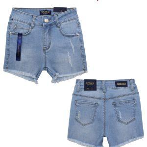 Girls Cut Up Denim Shorts