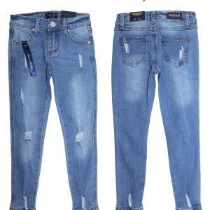 Girls Denim Cut Up Jeans