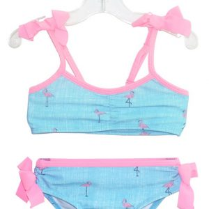 Flamingo 2pc Girls Swimsuit