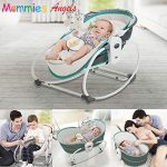 Mastela 5 in 1 Baby Bassinet Rocker Rocking Napper, Bounce, Chair with Removable Baby Bassinet & Melody