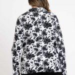Plain & Flower Print Regular & Plus Size Work Jacket